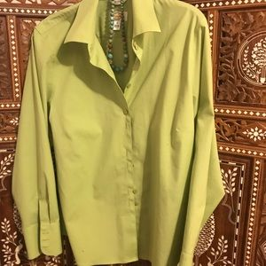 Talbots blouse in lime green size 16